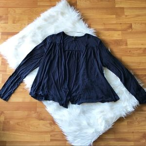 Navy Swing Cardigan